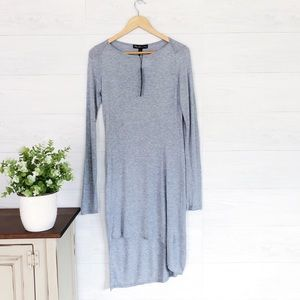 NWT Elizabeth & James Gray Long Sleeve Midi Dress